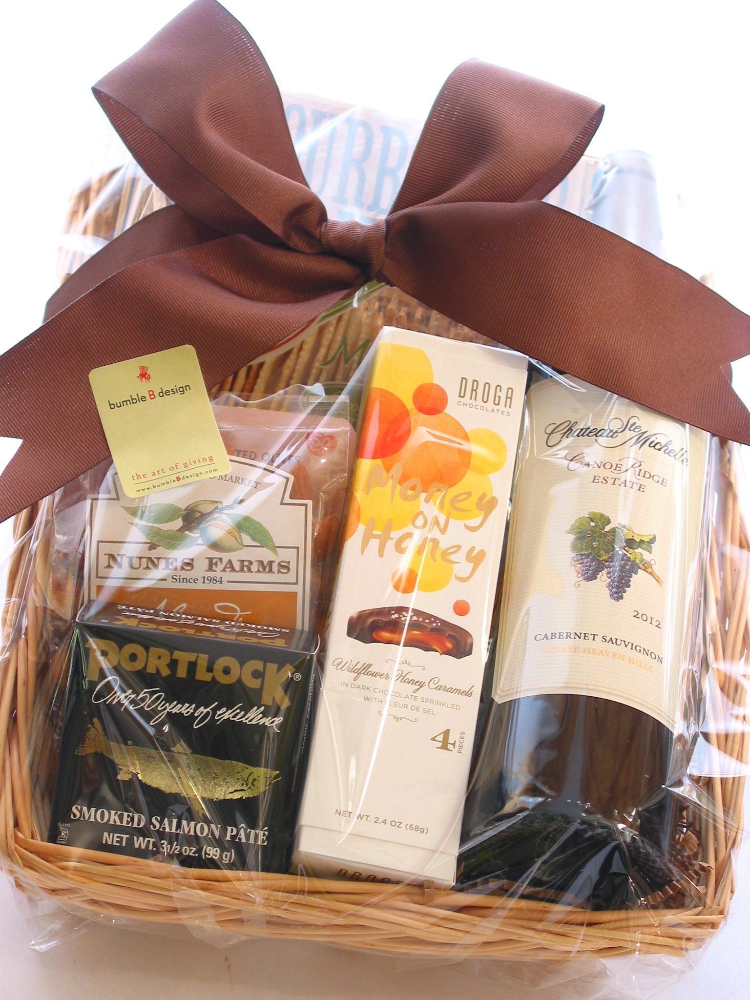 Wine Gift Basket From Bumble B Design Seattle Wabumble B